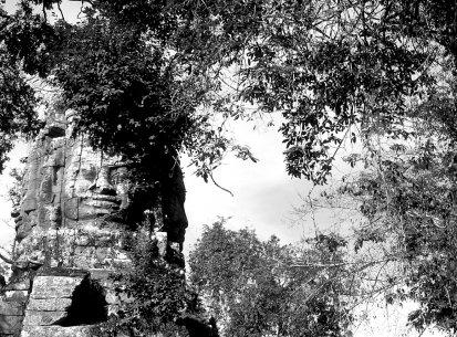 Laos – Templi Khmer B/N